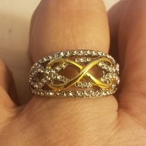 Silver tone infinity ring